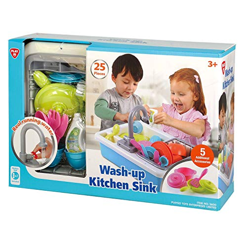Spark Kitchen Sink,Blue,15.8 x 14.8 x 5.8 inches