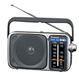 Panasonic Portable AM / FM Radio, Battery Operated Analog Radio, AC Powered, Silver (RF-2400D)