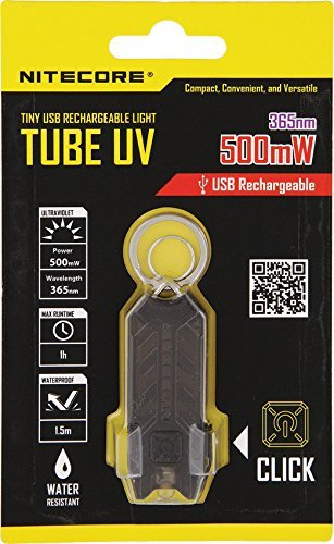 Nitecore Unisex - Torcia tascabile da adulto, tubetto UV, nero, 5,7 cm