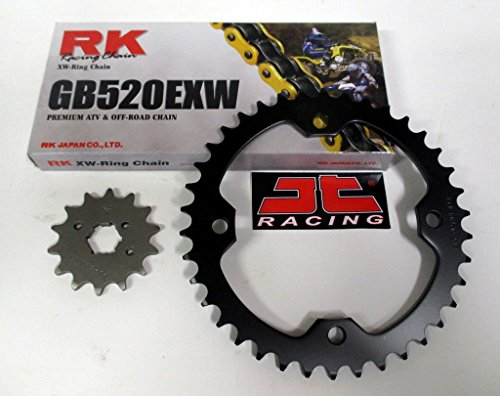 RK Gold Chain and JT Sprockets Chain and Sprocket Kit Fits: Yamaha Raptor 700 2006-2015
