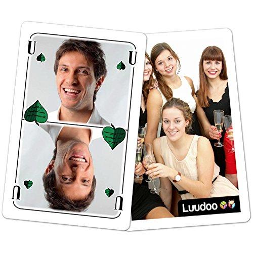Personalisiertes Schafkopf (Doppelkopf, Schnapsen, Gaigel) mit ihren Fotos - Einfachspiel in Klarsichthülle
