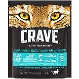 CRAVE Croquettes pour chat – Goût Saumon & Poissons – Nourriture sèche sans céréales riche en protéines – Lot de 5 sachets de 750g