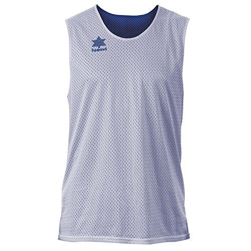 Luanvi Triple Camiseta Reversible Deportiva, Hombre, Azul/Blanco, 3XL