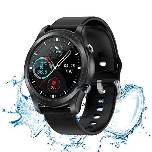 スマートウォッチ 2021最新版 24時間自動計測 多機能 腕時計 活動量計 歩数計 23種類運動モード 着信通知 SMS/Twitter/Line/アプリ通知 IP68防水 レディース メンズ iPhone/Android対応