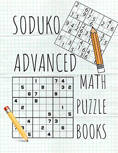 Soduko Advanced Math Puzzle Books: Page A Day Calendar Brain Teasers, suduko easy puzzle books for adults think like a maths genius geometry sudoko.