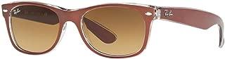 New Wayfarer Classic, Brown On Transparent/Brown Gradient