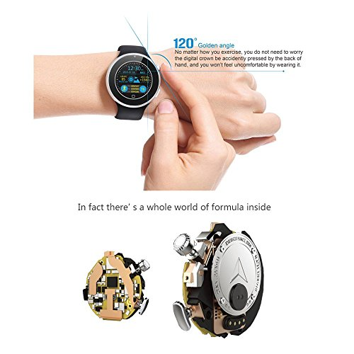 Aiwatch C5 Smartwatch Bluetooth, Compatible con iOS 7.0 Android ...