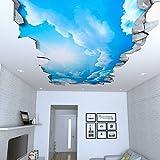 Papel Pintado Efecto 3D (87 x 48 cm, Cielo Efecto Techo 3D Vinilos Adhesivos Decorativos)