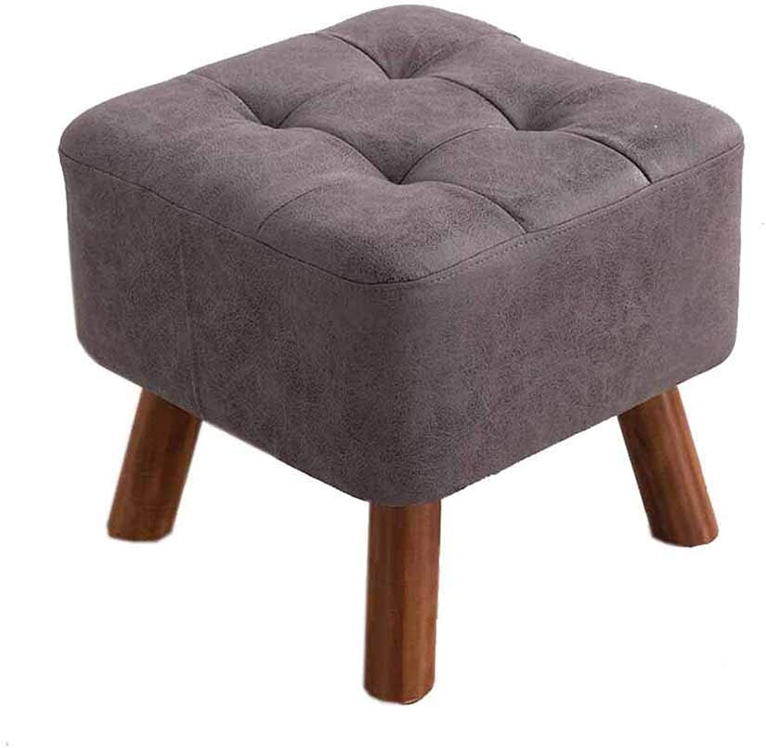 Footstool-shoes Bench Solid Wood Technology Cloth Living Room for Multiple Purposes JINRONG (color   B)