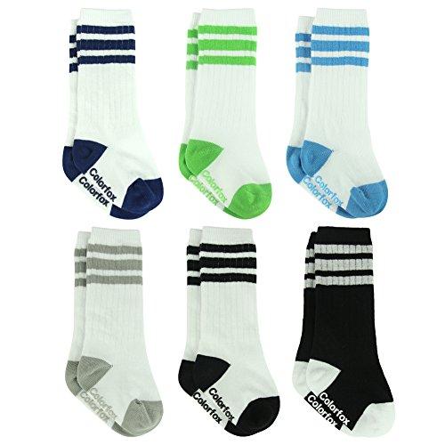 Baby Anti-skid Socks, Colorfox Infant Novelty Knee High Stockings Socks 6 Pack