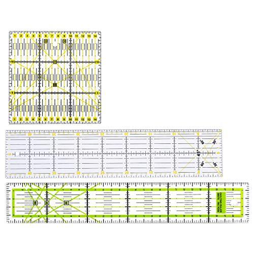 Haven Shop - Set di 3 righelli per trapuntatura, cucito, patchwork, artigianato, scala, fai da te, fatti a mano, per abbigliamento sartoriale