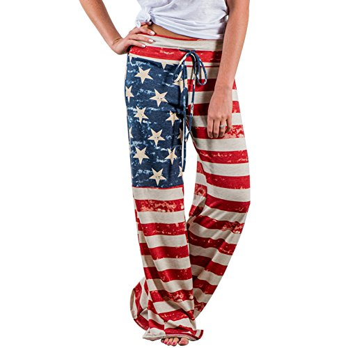 Pantaloni Larghi Donna Vita Alta Baggy Hip Hop Harem Danza Trousers Stampa Floreale Tuta Jumpsuit Boho Hippie Chic Pantalone Lungo Estivo per Yoga Jogging Palestra Sportivi Pigiama Wide Leg Pants