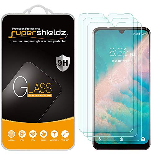 (3 Pack) Supershieldz for ZTE Blade 10 and Blade 10 Prime Tempered Glass Screen Protector, Anti Scratch, Bubble Free