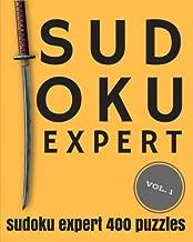 SUDOKU EXPERT Volume 1: Expert Sudoku: 400 sudoku extreme puzzles, sudoku very hard level for difficult sudoku puzzle enthusiasts (Sudoku evil, very hard sudoku)