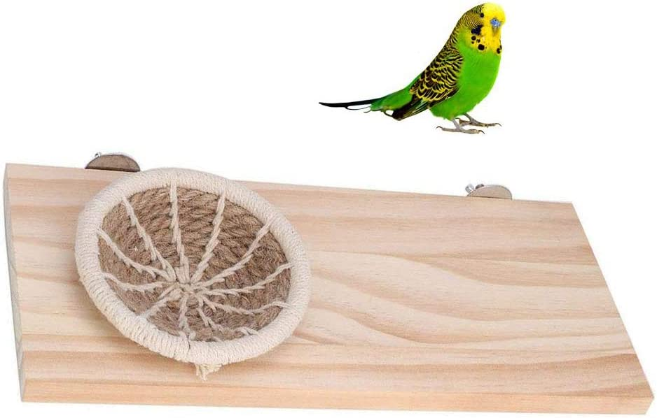 Canary Sales results No. 1 Nest Pet Attention brand Perch Cotton Rope Wood Platf Breeding Bird Stand