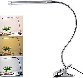 Lixada 10W Clip LED Luz Lampara de Lectura Escritorio, Protección para Ojos, 10 Nivel de Brillo Ajustable, 3 Colores de Iluminación, 36 LEDs Powered USB, Portátil Flexible Regulable