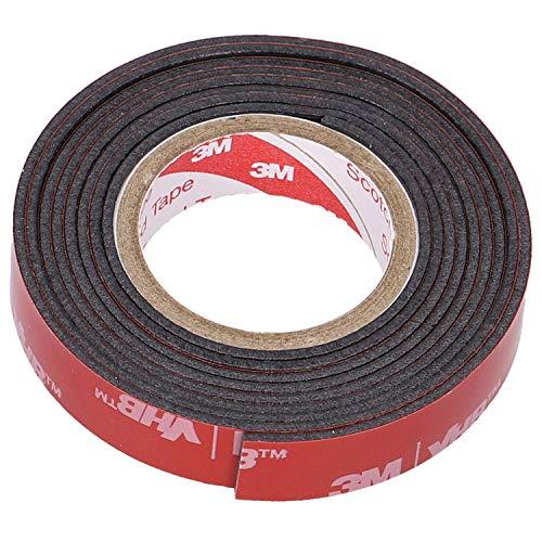 エーモン 超強力両面テープ (柔らかいダッシュボードなどに) ポリエチレン・塩ビ対応 車内用 黒 幅10mm×長さ1m×厚さ1.14mm 3904