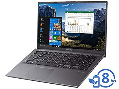 "ASUS VivoBook F512DA Laptop, 15.6"" FHD Display, AMD Ryzen 3 3200U Upto 3.5GHz, 12GB RAM, 256GB NVMe SSD, Vega 3, HDMI, Card Reader, Wi-Fi, Bluetooth, Windows 10 Pro"