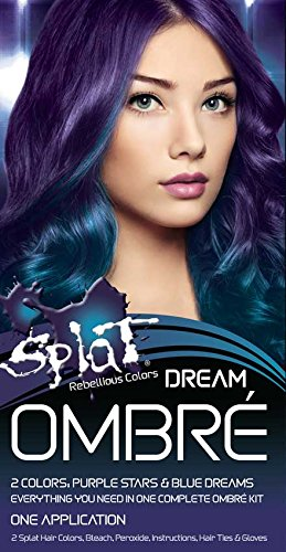 Splat Ombre Dream | Original Complete Kit | Purple & Blue Hair Color | Vegan & Cruelty Free
