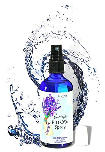 Kissenspray Lavendel Premium 100% natürlich - Nur mit Echtem Lavendelöl & Echtem Lavendelwasser, Lavendelspray für Ihre herrliche Entspannung, 100ml BotaniKils