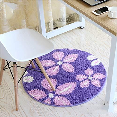 Binnendecoratie, yogamat (afmetingen: diameter 100 cm), antislip, vloermat, yogamat, bedmat, deurmat. Diameter 80CM