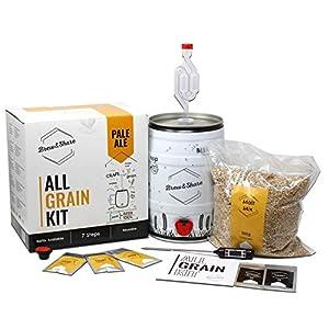 BNKR BEER Brew&Share | Kit para Hacer Cerveza Pale Ale | Tu Cerveza en 2 semanas. Elaboración con maltas. Fermentación en Barril.