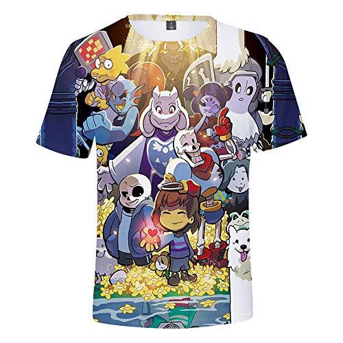 Erwachsene Undertale Cosplay Print Kapuzenpullover Niedliche Undertale Temmie T-Shirts Undertale Sans M/änner klassisches Kurzarm-T-Shirt Street Trendy Hip Hop Fashion Streetwear Hoodies