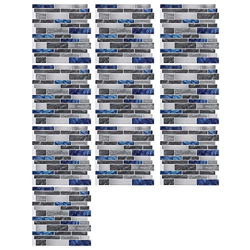DONGKER (10 Stück) Wandverdicker Aufkleber Wasserdicht & Wärme Ziegel Tapete, Fliesenaufkleber Ziegelmuster Wandaufkleber Aufkleber Wandfliesen Aufkleber Aufkleben Fliesen Selbstklebende Tapete