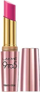 Lakme 9To5 Primer + Crème Lip Color, Pink Shock CP6, 3.6 g