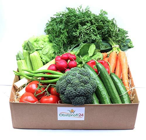 Obstprofi24 - Klassische Gemüsebox-Gemüsekiste aus einer besten Auswahl an reifem saisonalem Salat und Gemüse