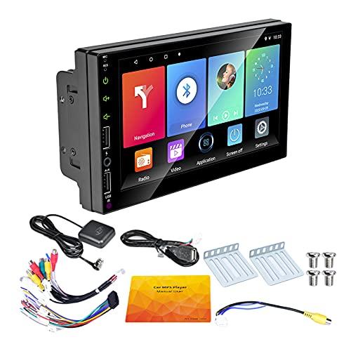 Andifany 2 DIN GPS per Auto Autoradio 7 Pollici Android 9.1 Car Multimedia WiFi Player MP5 Ricevitore per Senza Fotocamera Un 12 LED LED