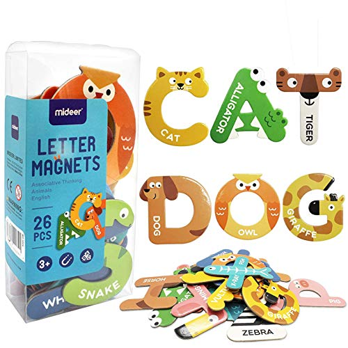 Yeelua Large Magnets Fridge Animals Letters, Magnetic Refrigerator...