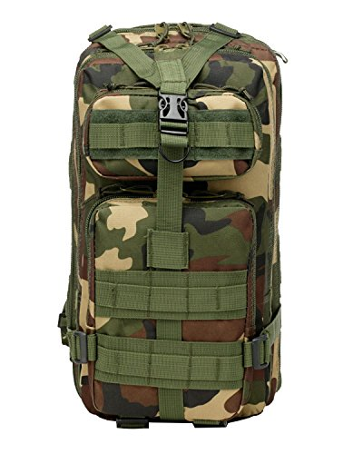 Yy.f Sacs à Dos Multi-fonctionnels Les Fans Militaires Tactiques En Plein Air Sac à Dos Sac à Dos D'assaut 3P Tactique Sac étanche Tactique Molle Sac à Dos De Camouflage. Multicolore,A-27*23*42cm