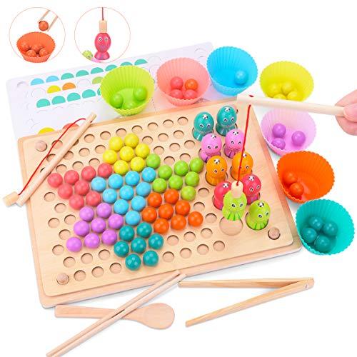 Juguete Educativo de Primera Infancia para Crear Multiples Combinacones, Creativo Juguete Educativo para Niños y Padres, Educación Temprana Rompecabezas Manos Cerebro Entrenamiento