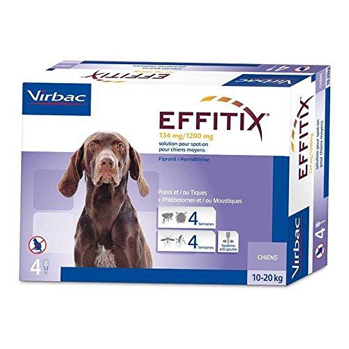 Effitix Spot On moyen chien 10 - 20 kg 4 pipettes