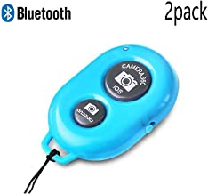 (2 Pcs) GreenElec Bluetooth Selfie Wireless Camera Shutter Remote Control Release Self Timer for iPhone 5 5C 5S SE 6 6S Plus, Samsung Galaxy HTC Sony LG and Other iOS Android Device (Blue)
