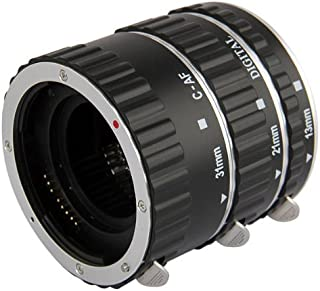 Tubo de extensión automático Macro para Canon (Anillo de aluminio plata) - tres tubos pieza - 13mm 21mm 31mm para Canon EOS 1000D 1100D D700 D650 600D 550D 500D 450D 400D 350D 300D 60D 50D 40D 30D 20D 10D 7D 5D 5D Mk II 1D 1Ds 1D Mk II 1Ds Mk II 1D Mk II N 1D Mk III 1Ds Mk III etc.