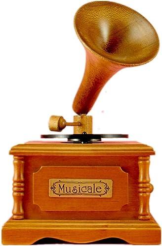 autentico en linea YAMEIJIA Retro Tocadiscos Tocadiscos Música Caja Caja Caja Madera Caja De Música Cielo Ciudad Regalo Creativo  a precios asequibles
