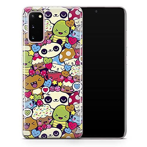 Funda para Samsung Galaxy S21 Plus, diseño de unicornio de color morado y rosa, diseño de dibujos animados, diseño 5 A83