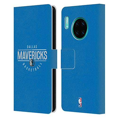 Officiële NBA Logotype 2018/19 Dallas Mavericks Lederen Book Portemonnee Cover Compatibel voor Huawei Mate 30 Pro / 5G