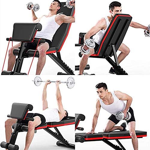 Gymbong Adjustable Weight Bench,Incline Decline Weight Lifting Equipment Workout Bench,Foldable Workout Bench for Home Gym