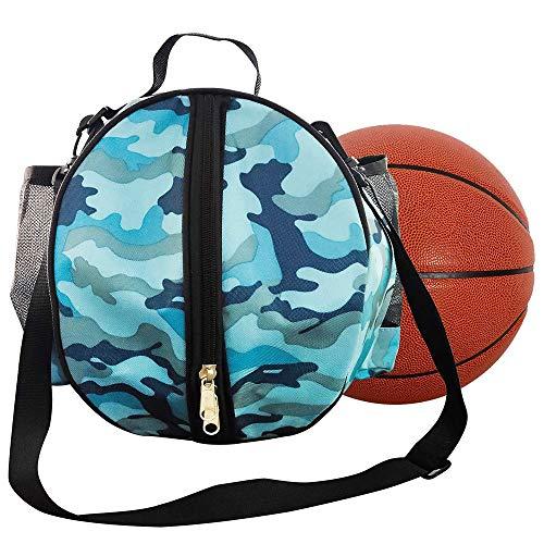 Bolsa de Baloncesto, Bolsa de Baloncesto de Hombro, Bolsas de Transporte de Baloncesto, Portátil Un Solo Hombro Redondeado Bolsa de Baloncesto Impermeable para Baloncesto, Fútbol, Voleibol (Azul)