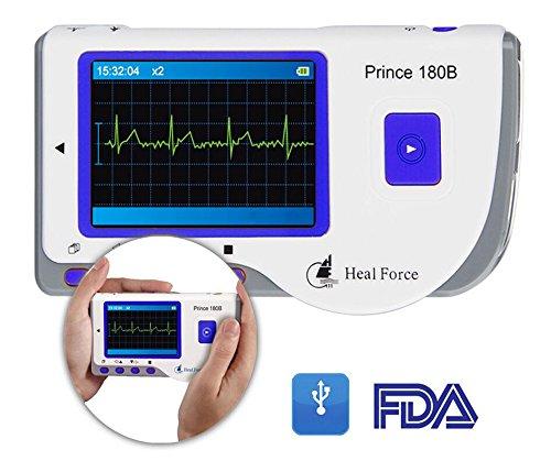 Heal Force Prince 180B ECG-bewakingsapparaat/monitor, draagbaar, met software en USB-kabel