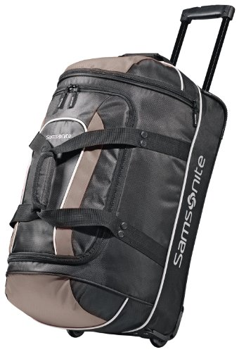Samsonite Andante Wheeled Rolling Duffel Bag, Black/Grey
