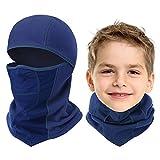 Breathable Kids Balaclava Ski Mask, Waterproof Face Mask for Boys Girls Youth Blue