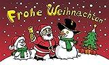 UB Fahne/Flagge Frohe Weihnachten Nikolaus & Schneemann klein Weihnachtsfahne 90 cm x 150 cm Neuware!!!