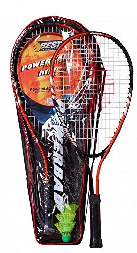 Best Sporting Powerbadminton Set, 2 BadmintonSchläger, 3 bälle, inklusive Tragetasche