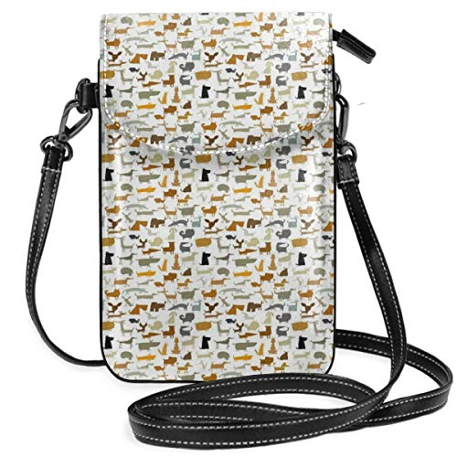 Jiger Women Small Cell Phone Purse Crossbody,Creative Colorful Repetitive Pattern Of Different...
