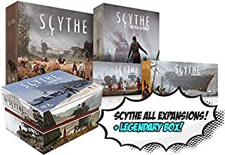 Scythe Base Game! Includes All Expansions- Scythe: Invaders from Afar, The Wind Gambit, The Rise of Fenris, and Encounters! Plus Scythe, Legendary Box!