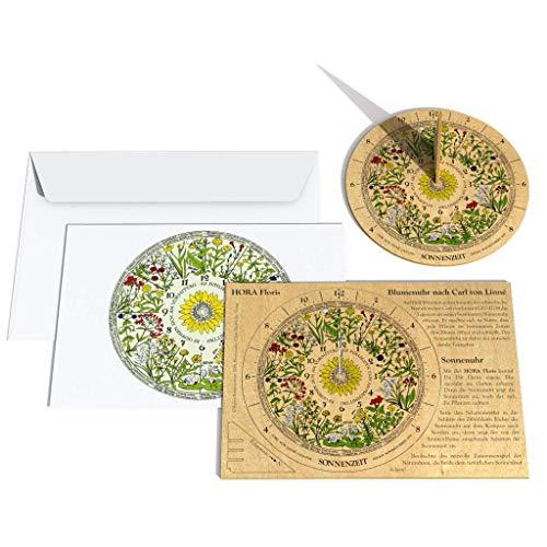 HORA Floris Sonnenuhrbausatz aus Flugzeugsperrholz - Sonnenuhr mit Blumenuhr nach Carl von Linné